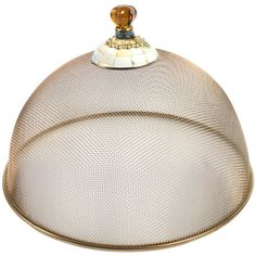 MacKenzie-Childs Parchment Check Mesh Dome - Large (€155) ❤ liked on Polyvore featuring home and kitchen & dining