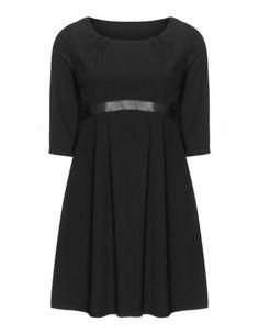 Fitted pleat dress by Manon Baptiste. Shop now: http://www.navabi.co.uk/dresses-manon-baptiste-fitted-pleat-dress-black-21698-2400.html?utm_source=pinterest&utm_medium=social-media&utm_campaign=pin-it