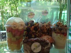 Our Spa Boutique now carries fresh fruit made daily in elements!     Fresh Fruit Cup   Pyramid Yogurt Parfair   Healthy Muffins  Breakfast Bread   Trail Mix