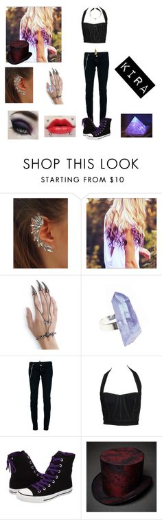 """""""Kira ~Creepypasta~ ~My OC~"""" by officially-psycho ❤ liked on Polyvore featuring AstralEYE, Dsquared2, Alaïa, Converse and H&M"""