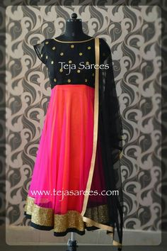 Tff Asian Fashion, Girl Fashion, Womens Fashion, Designer Wear, Designer Dresses, Anarkali Kurti, Lehenga, Teja Sarees, Simple Anarkali