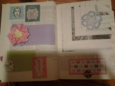 Old book made into a scrapbook