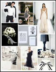 A black-tie affair inspired this crisp black and white palette.