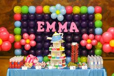 Love the balloon party backdrop. Photo booth? See more party ideas at CatchMyParty.com.