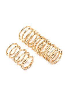 Caged Midi Ring Set | Forever 21 - 1000182002
