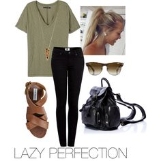 LAZY PERFECTION. by kk-zeitvogel on Polyvore featuring rag & bone, Paige Denim, Steve Madden, Forever 21 and Ray-Ban