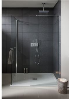 Design Walk In Bathroom Shower Panel with  Towel Rail from Crosswater http://www.simpsons-enclosures.co.uk/product/simpsons-shower-enclosures/design-semi-frameless-side-panel-with-towel-rail/