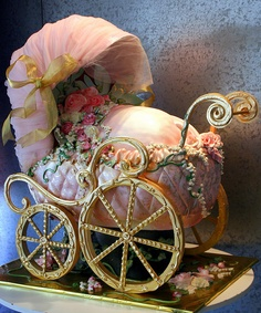 Ultimate Baby Carriage Cake! (can't believe this is cake!) I doubt I'd make this even if I did get a bakery! :) this is awesome.