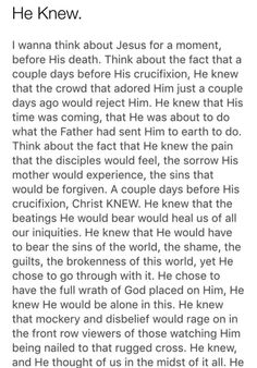 This is so sad & so beautiful. Thank you for your merciful love Father!