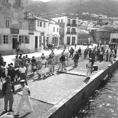 """Hydra is a small island located 400km S of Pireus End of the 1950s, artist community blossomed Photo was taken in 1960 There are still no cars on the island, and has been elected """"Best preserved island of the Mediterranean""""The island got electricity as late as into the 1960s, and Leonard Cohen started on the song """"Bird on a Wire"""" the day he saw the wires outside his window."""