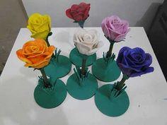 Como Fazer Flores em EVA Passo a Passo: Fotos e Tutorial