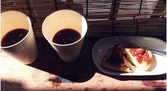 2014.8.18  朝の珈琲とホットケーキ