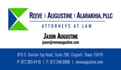 Reev, Augustine, Alarakhia, PLLC Business Card created by Marni G Designs #MarniGDesigns #BusinessCard #BC #ReeveAugustineAlarakhia