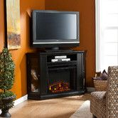 """TV Stand with Electric Fireplace  by  Wildon Home - in Ivory for the master bedroom.  can support a 52"""" TV."""