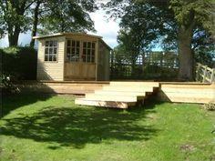 summerhouse raised on decking - Google Search