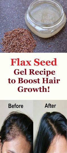 Flax Seed Gel Recipe to Boost Hair Growth!