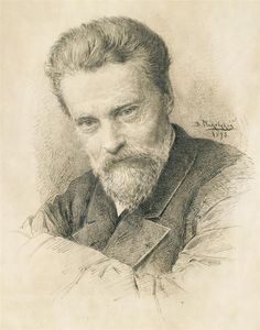 Self portrait, 1893 by Vladimir Makovsky. Realism. self-portrait