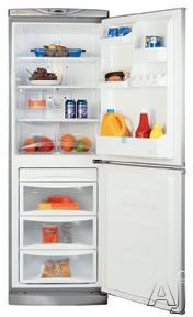LG LRBP1031 10 cu. ft. Cabinet Depth Bottom Freezer Refrigerator with 2 Tempered Glass Shelves, 2 Vegetable Crispers, Quick Freezing Drawer and Digital Temperature Controls