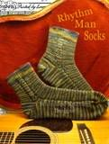 """Rhythm Man Socks Pattern"" designed and knit for my guitar playing, hubby! ENJOY!!"