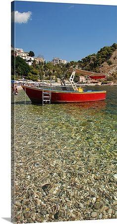 Boat in a lake, Lake Maggiore, Isola Bella, Italy