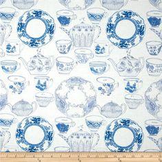 Tea Garden Devonshire Tea Blue- Blend Fabrics