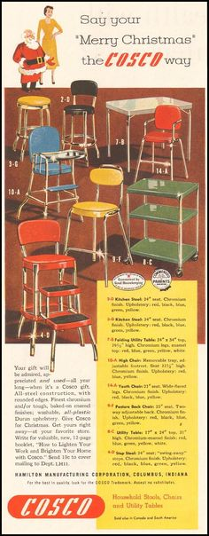 COSCO CHAIRS STOOLS AND TABLES LADIESu0027 HOME JOURNAL 11/01/1950 p & YES! My kitchen chair/stool! I think Iu0027d rather do each piece a ... islam-shia.org