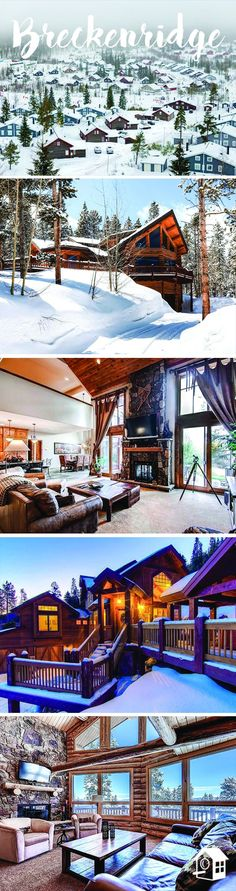 Gorgeous Breckenridge cabins, perfect for ski trips or a family getaway!