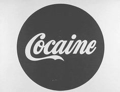 Image uploaded by Hannah. Find images and videos about black and white, drugs and coca cola on We Heart It - the app to get lost in what you love. Typography, Lettering, Favim, Wild Hearts, Logo Inspiration, Altered Art, Coca Cola, Drugs, Street Art