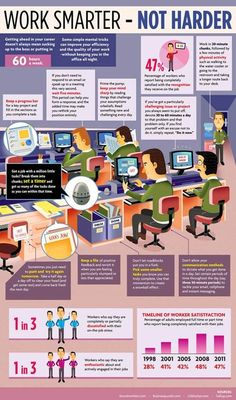 How to Work Smarter, Not Harder Infographic  #productivity #time #management