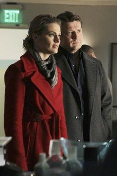 Nathan Fillion and Stana Katic in Castle