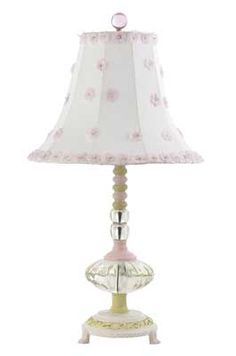 Winner will pick between the Jubilee Collection Corsage Chandelier Lavender and White and the and the Pink and Green Pumpkin Lamp with Shade