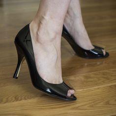 Anne Klein patent leather peep toe pumps Anne Klein patent leather peep toe pumps. 3.75 inch heel. Size: 7M Anne Klein Shoes Heels