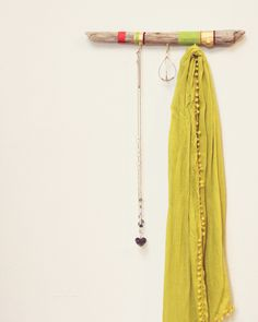 diy painted driftwood hanger