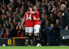 Player/Manager Ryan Giggs enters the pitch, replacing Tom Lawrence for his 963rd BPL appearance.