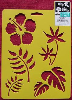 Tropical Plants flower leaves paint craft gift Tropical Stencils II - make them large using subdued contrast colorTropical Stencils II - make them large using subdued contrast color Leaf Stencil, Damask Stencil, Stencil Patterns, Stencil Painting, Stencil Designs, Fabric Painting, Bird Stencil, Faux Painting, 3d Templates