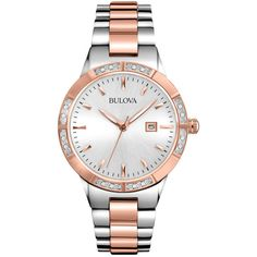 Bulova Watch (5,720 MXN) ❤ liked on Polyvore featuring jewelry, watches, colorful jewelry, multicolor jewelry, bulova, quartz movement watches and stainless steel jewelry