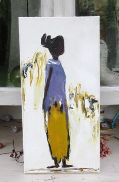 Participation Emotive Painting l Abstract Portrait, Abstract Art, Woman Painting, African Art, Amazing Art, Art Drawings, Art Projects, Fine Art, Pictures