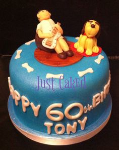 Birthday cake for a man who loves his guitar and his dog :)