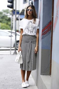 awesome Try A Tie-Front Skirt For The Weekend | Le Fashion | Bloglovin'...