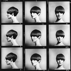 thelittlesquares: Vidal Sassoon's five point bob modeled by none other than Grace Coddington. Read about the lesser known of Swinging London's original hipster photographers, Eric Swayne.