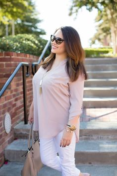Fashion Rules You Should Be Breaking -White After Labor Day - Kendra Scott, Nordstrom, Tunic, Kate Spade, Michael Kors