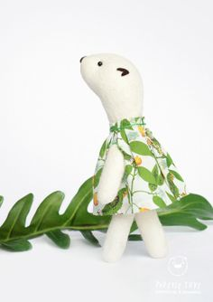 Flinga tropical. My Woodland Friends soft by PopetseToys on Etsy