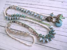 Charm- & Bettelketten - Bettelarmband ★ Wickelarmband ★ Glasperlen - ein Designerstück von josefine1961 bei DaWanda