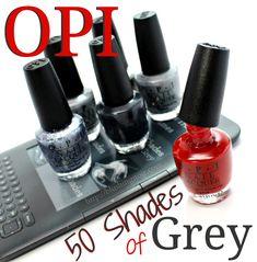 OPI 50 Shades of Grey Nail Polish Collection