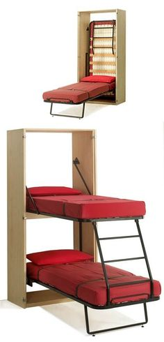 Space Saving Fold Down Beds for Small Spaces, Furniture Design Ideas. Great way to add kid beds in our travel Space Saving Fold Down Beds for Small Spaces, Furniture Design Ideas. Great way to add kid beds in our travel trailer! Small Room Bedroom, Home Decor Bedroom, Bedroom Furniture, Home Furniture, Furniture Design, Furniture Ideas, Antique Furniture, Diy Bedroom, Modern Furniture