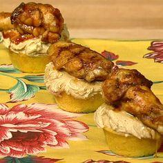 Carla Hall's BBQ Chicken Wing Cupcakes - the chew - ABC.com