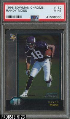 1998 Bowman Chrome  182 Randy Moss Minnesota Vikings RC Rookie PSA 9 MINT 7215d5065