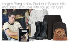 """""""Imagine Being a New Student in Beacon Hills and Stiles Fall in Love with You at First Sight"""" by fandomimagineshere ❤ liked on Polyvore featuring Alexander Wang, Rachel Entwistle, Dr. Martens, Kate Spade and Volcom"""