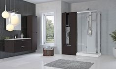 Revolution - Novellini - gb: Finishes Revolution cabinets are available in various colours. In partnership with bathroom furniture producer Iotti, we have chosen to use a new PVC-free material for our new products. Revolution's panelling can be matched with Iotti furniture to create a truly environment-friendly designer bathroom.    The panels are scratch-resistant, built to last. Easy-clean surfaces that do not attract dust Water-repellent and stain-proof         Made from totally PVC-f...