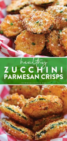 Breaded Zucchini Parmesan Is Fried Until Crispy And Baked In A Casserole Dish With Layers Of Marinara Sauce And Mozzarella Cheese. Entree Recipes, Side Dish Recipes, Appetizer Recipes, Snack Recipes, Cooking Recipes, Zucchini Side Dishes, Vegetable Side Dishes, Vegetable Recipes, Zucchini Parmesan Crisps